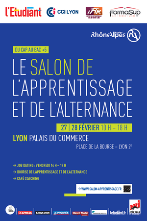 Salon de l 39 apprentissage et de l 39 alternance de lyon - Salon de l alternance et de l apprentissage ...