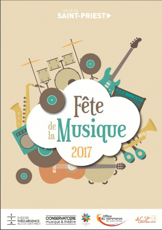 Tremplin du festival music en ciel f te de la musique 2017 place roger salengro saint priest - Fete de la musique 2017 date ...