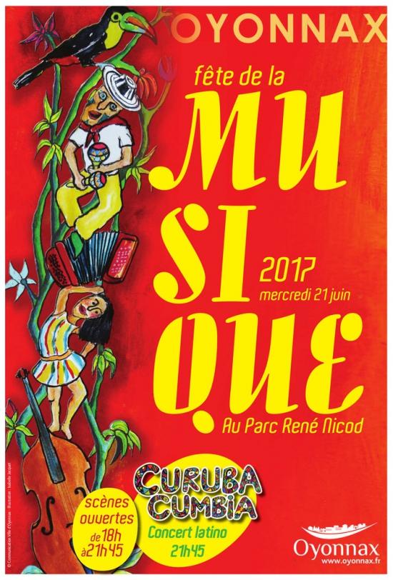 Curuba cumbia latino f te de la musique 2017 parc ren nicod oyonnax 01100 sortir - Fete de la musique 2017 date ...