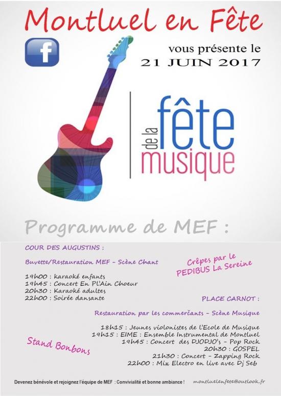 Sc ne musique f te de la musique 2017 place carnot montluel 01120 sortir lyon le - Fete de la musique 2017 date ...