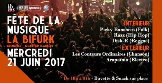 La bifurk f te de la musique 2017 la bifurk grenoble 38100 sortir france le parisien - Fete de la musique 2017 date ...