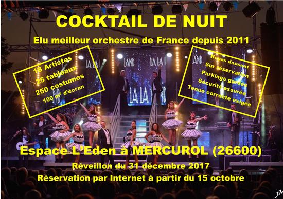 Repas spectacle dansant avec l'orchestre Cocktail de Nuit