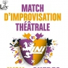 affiche LYON VS QUEBEC - MATCH D'IMPROVISATION THEATRALE