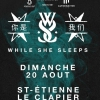 affiche WHILE SHE SLEEPS + GUEST