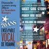 affiche 70 ANS ENSEMBLE VOCAL DE ROANNE