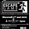 affiche ESCAPE GAME WAY OUT LYON