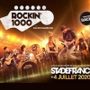 affiche ROCKIN 1000 LYON BUS + CAT 1 - STADE DE FRANCE